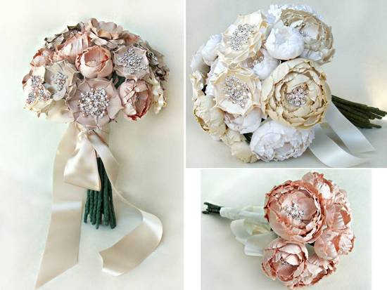 photo of Handmade regal alternative bridal bouquets
