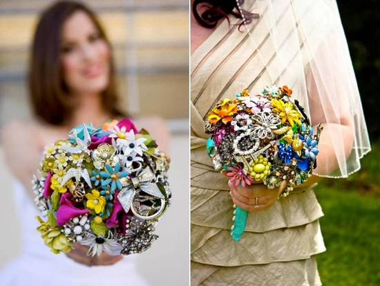 photo of Dazzling brooch bridal bouquets- an heirloom you'll treasure forever!