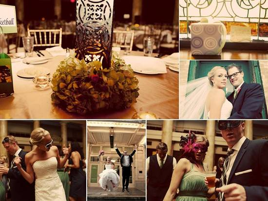 Enchanted garden wedding reception decor and reception fun on dance floor