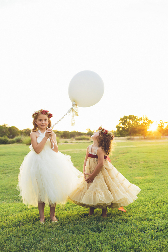 Flower girls at sunset