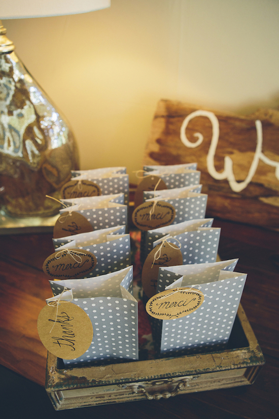 Polka dot wedding favors