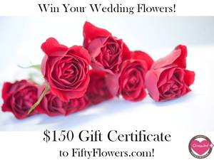 photo of Wedding Flowers Giveaway- $150 Gift Certificate to FiftyFlowers!