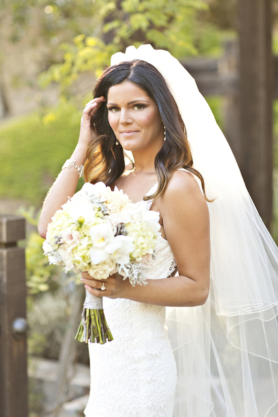 Bride beauty with a luxurious bouquet