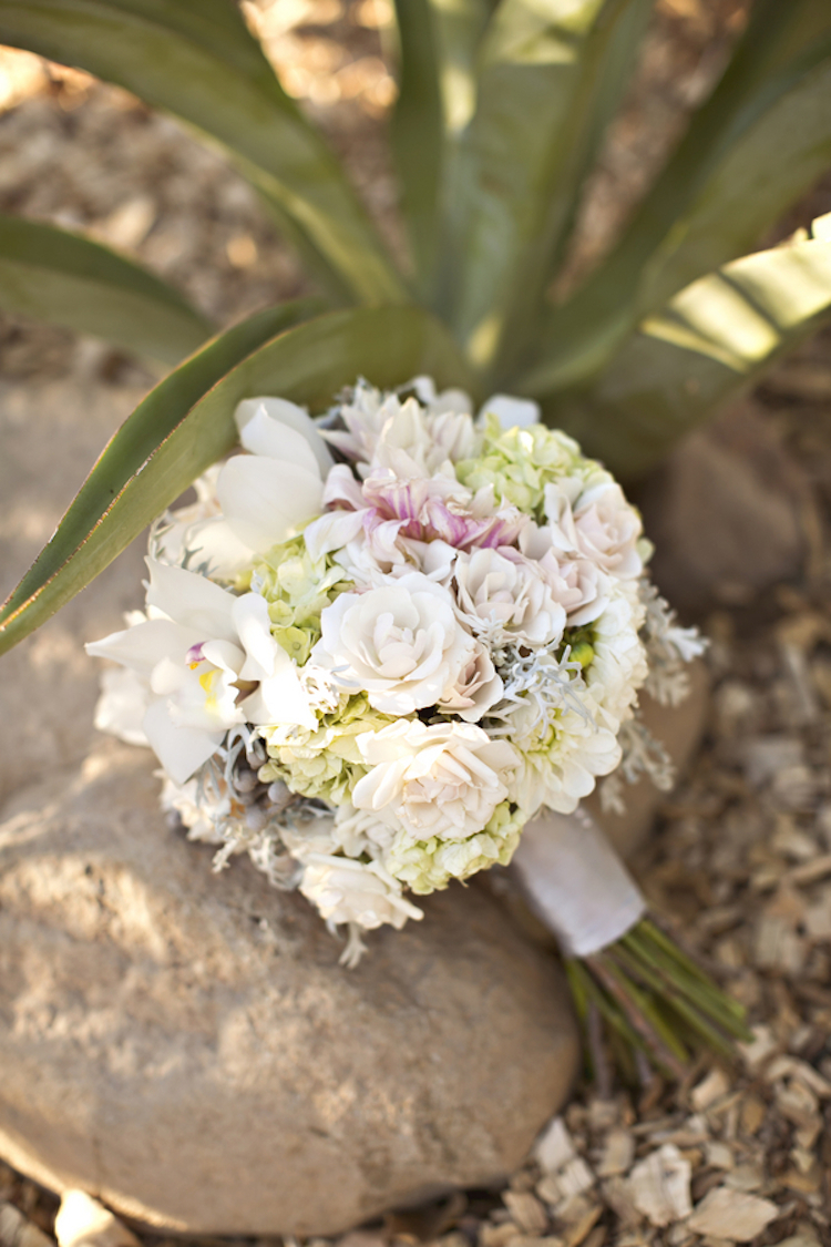 Hydrangeas and rose bouquet