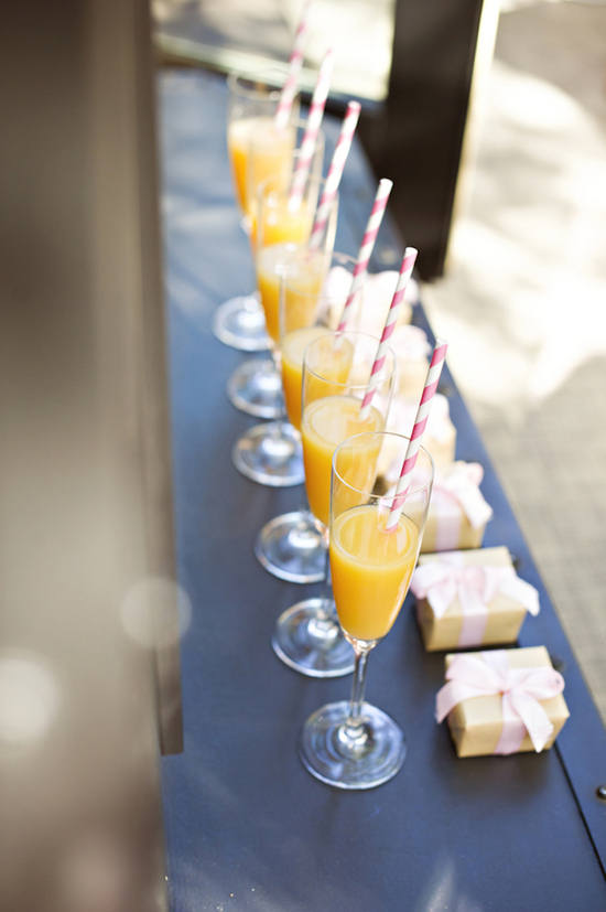 Mimosas for the bridesmaids