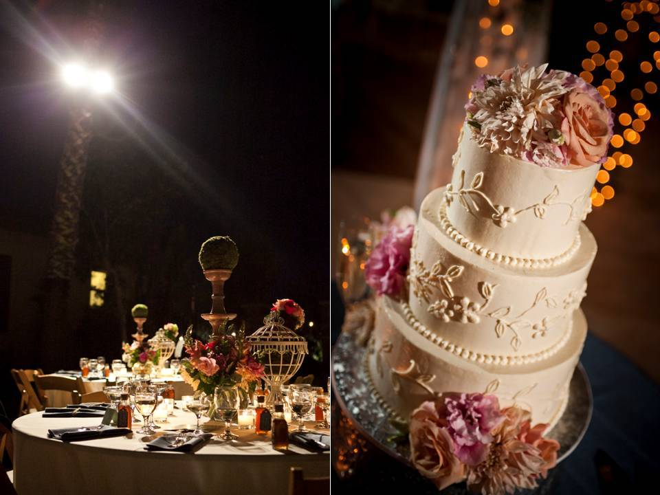 Classic White Three Tier Wedding Cake With Peach And Pink Roses