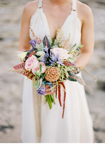 Fall-inspired Boho Chic Bridal Bouquet