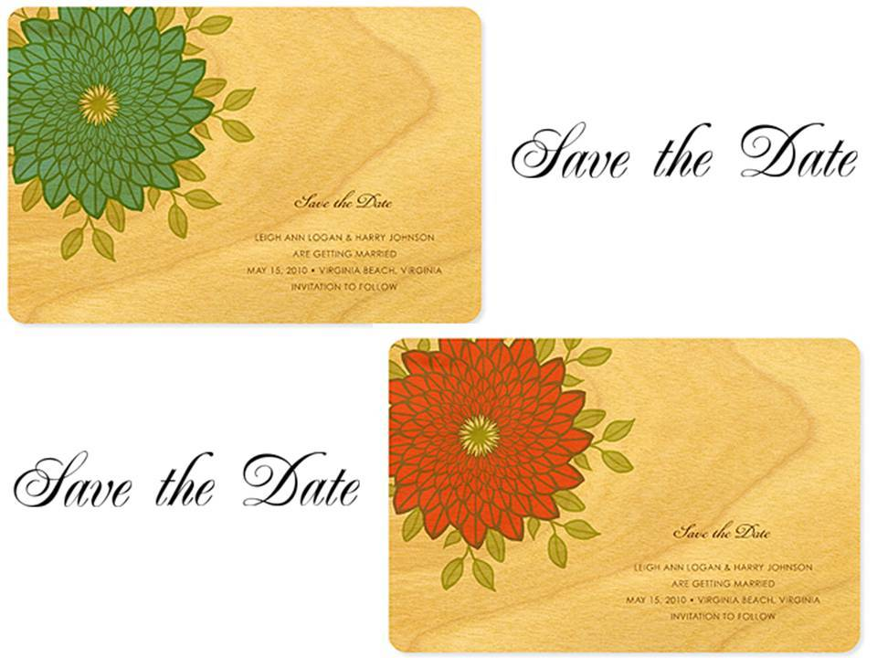 Win 50 eco-chic birch wood save-the-dates!