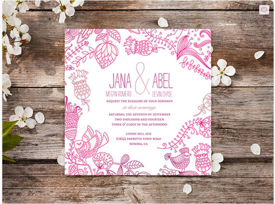 Love Birds Wedding Invitation | Oubly.com