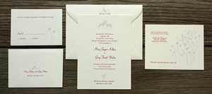 photo of For our fairytale brides, The Ramble wedding invitation collection is perfect!