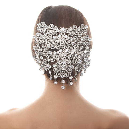 STRIKING CRYSTAL HAIR PIECE