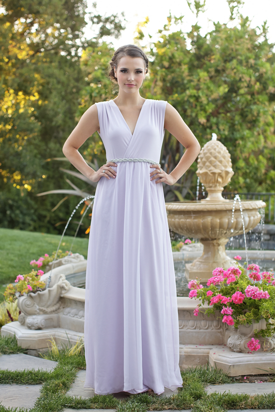 Floor length bridesmaids dress