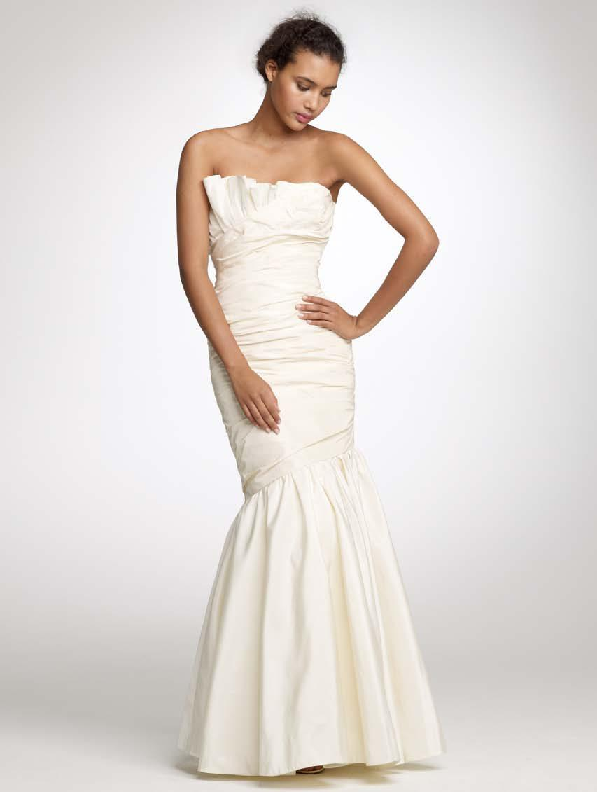 Classic ivory strapless mermaid wedding dress from J.Crew\'s 2011 ...