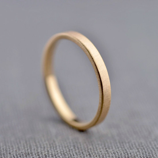 2mm Gold Ring Band by LilyEmme Jewelry