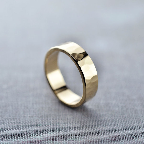 Textured 14K Gold Men's Ring by LilyEmme Jewelry
