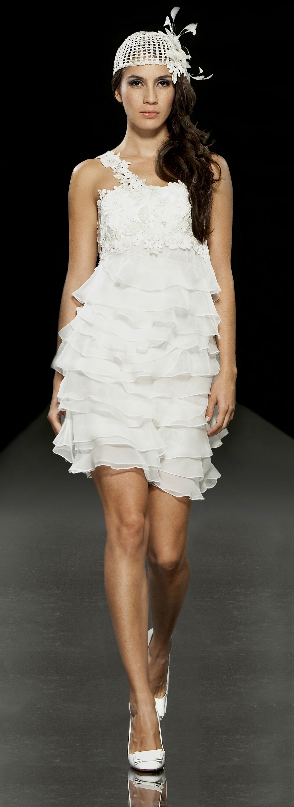 vintage-inspired short wedding dress, perfect for your wedding reception