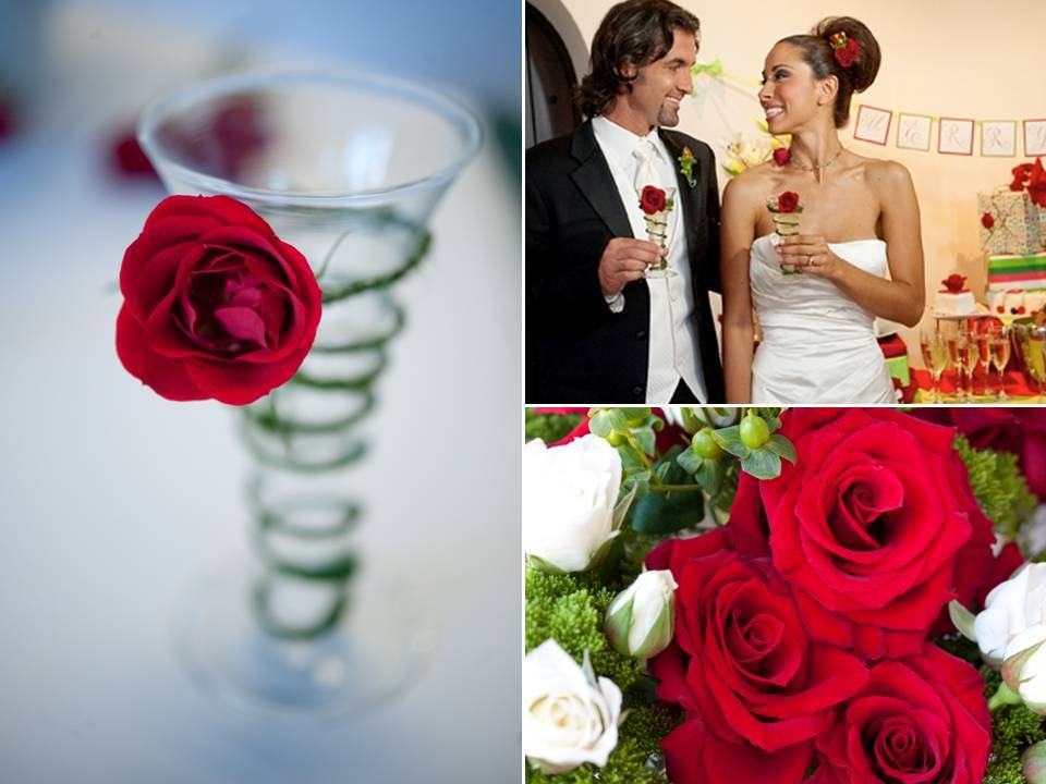 Simple-budget-friendly-diy-winter-wedding-flower-arrangements-red-ivory-roses.full