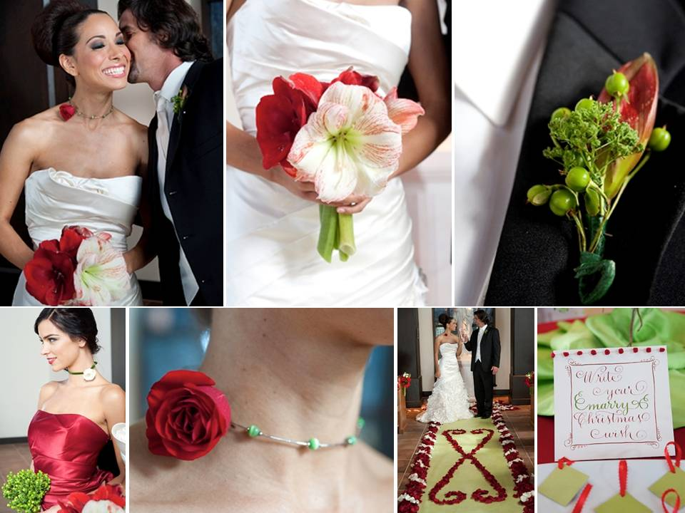Red-white-green-winter-wedding-diy-flower-ideas-projects-bridesmaids-necklaces-red-white-bridal-bouquet.original