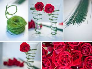 photo of Holiday-Inspired Red and Green Wedding- 10 Simple DIY Flower Projects!