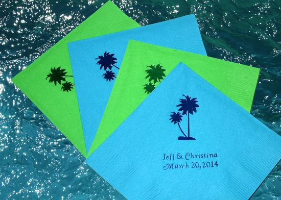wedding-napkin-palm-tree