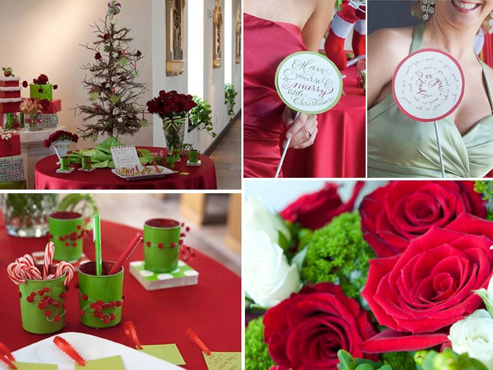 A Christmas Tree With Tags For Guests To Write Wedding Wishes In