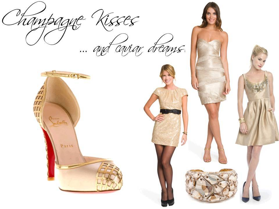 Pop The Bubbly While Wearing A Sy Champagne Toned Tail Frock