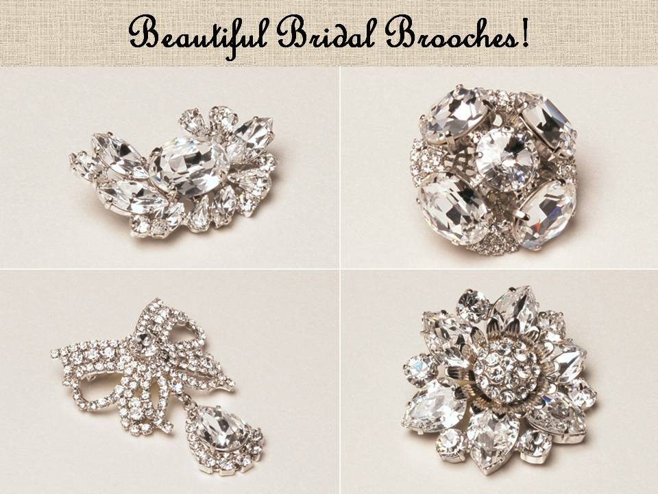 Dazzling Swarovski bridal brooches you'll treasure forever