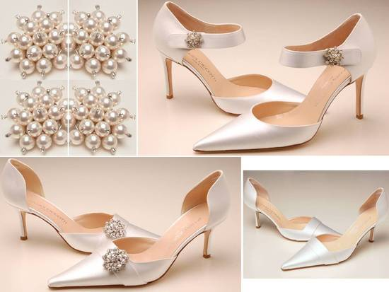 Exclusive bridal pumps and slingbacks, made in Italy, by designer James Ciccotti