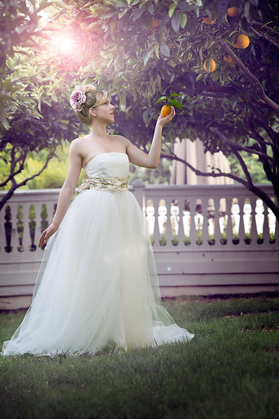 Garden wedding gown by Amy Jo Tatum