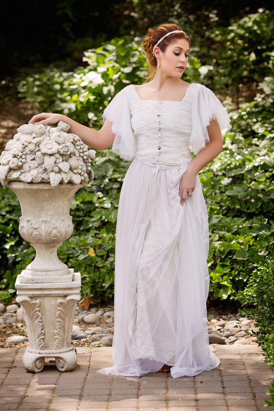 Romantic vintage gown by Amy Jo Tatum