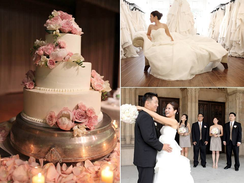 Classic-white-wedding-cake-romantic-rose-petals.full