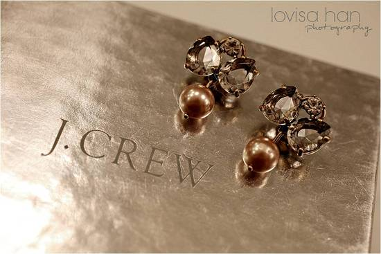 Stunning white and champagne topaz bridal earrings from J.Crew