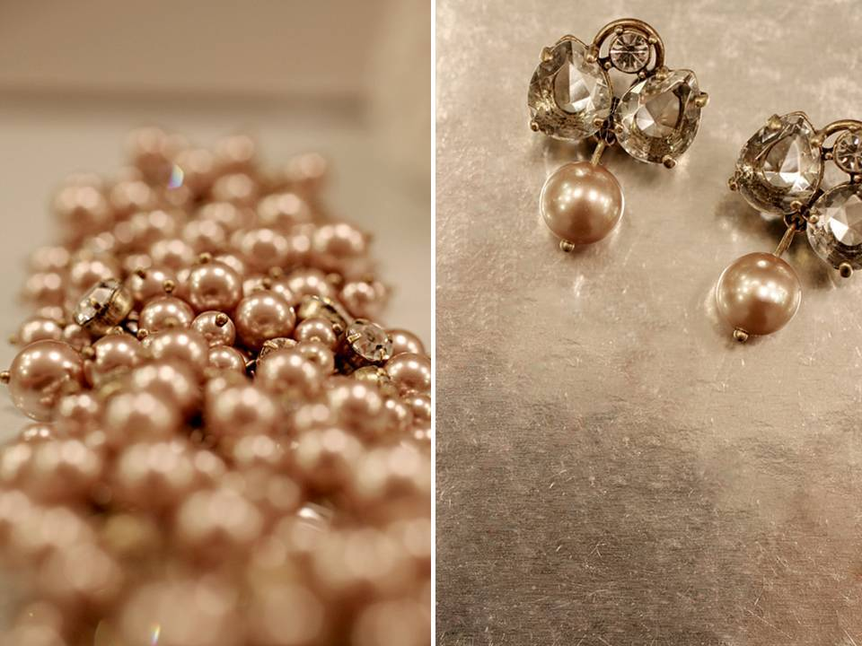 Chic-modern-asian-wedding-champagne-pearl-bridal-jewelry-earrings-necklace.full
