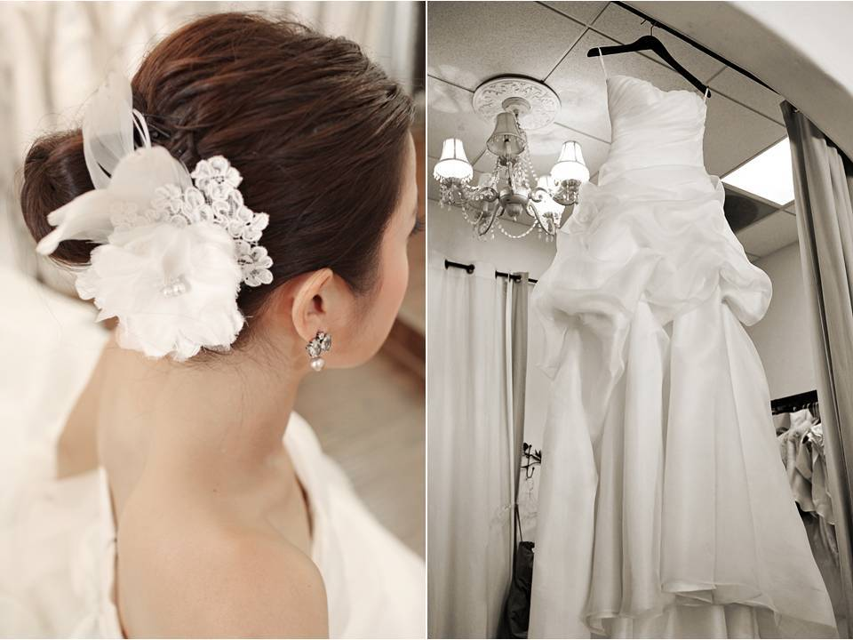 Romantic-sophisticated-california-wedding-white-strapless-wedding-dress-bridal-updo.full