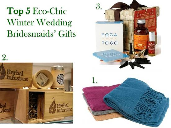 photo of Five Fabulous Green Gifts for Winter Bridesmaids by Recycled Bride