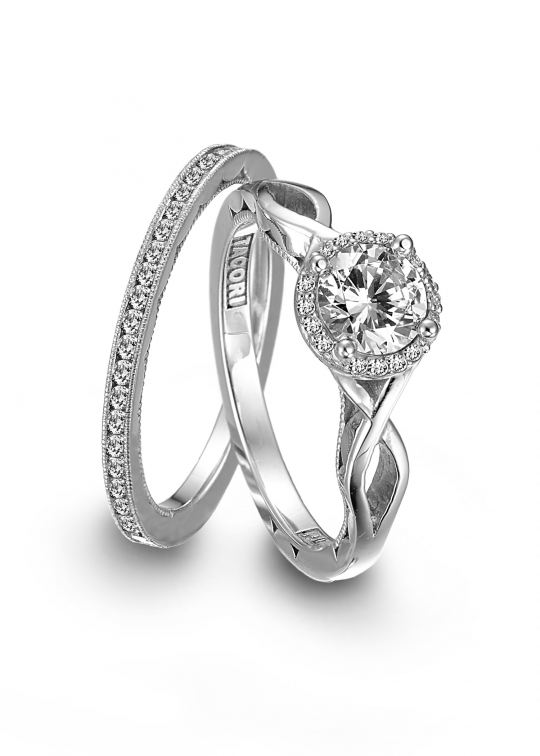 Affordable platinum engagement ring by Tacori