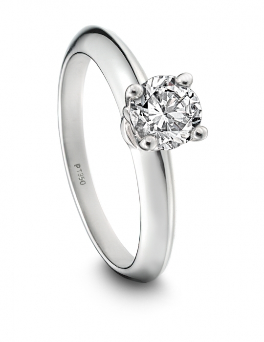 Platinum Hearts on Fire engagement ring with round diamond