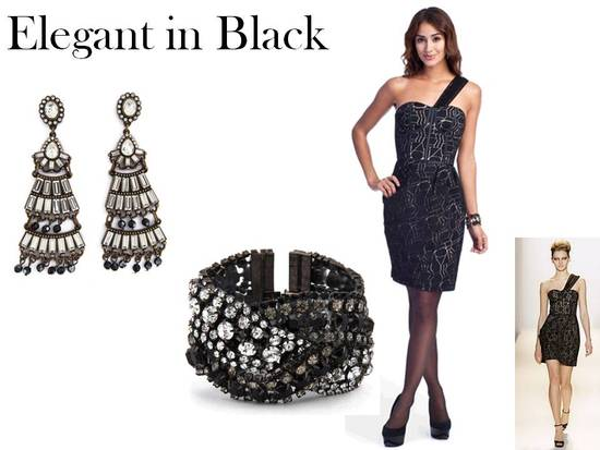 A black cocktail dress for a winter wedding is an elegant choice