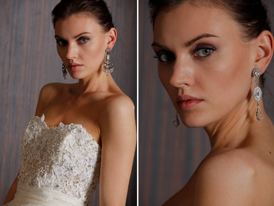 stunning statement bridal earrings from Badgley Mischka Bride
