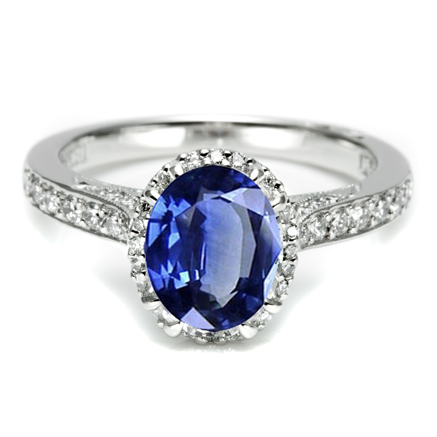 Platinum sapphire & diamond Tacori engagement ring just like Kate Middl