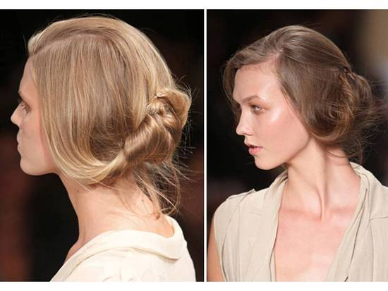 This modern wedding hairstyle is sleek and sophisticated
