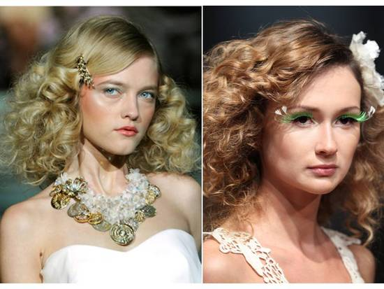 Go vintage chic with a deep side part and cascading curls