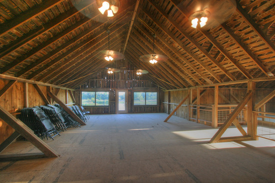 Second Floor of Wedding Barn