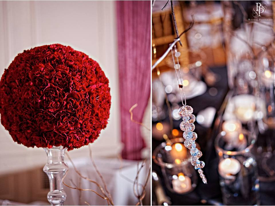Real-wedding-virgina-wedding-reception-decor-red-carnations-in-dome-centerpiece-hanging-crystals.full