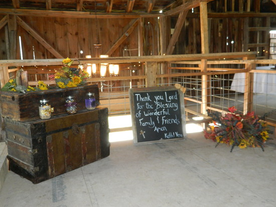 Wedding Display on Second Floor of the Wedding Barn