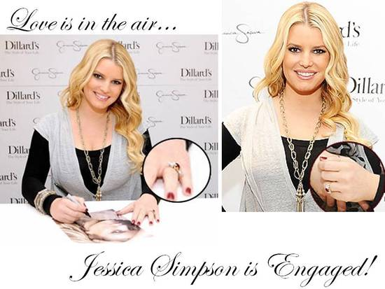 Jessica Simpson is officially engaged to beau Eric Johnson