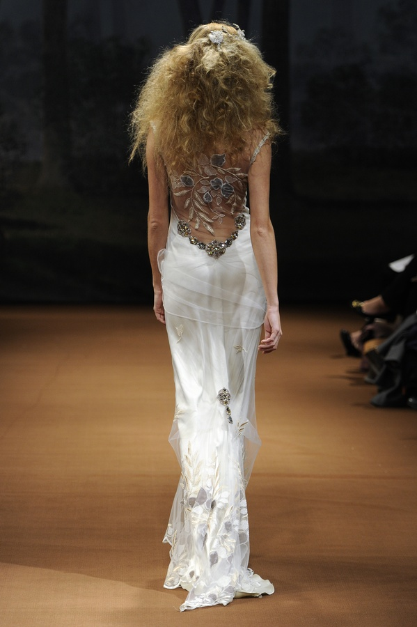 Slinky Silk Mermaid Wedding Dress With Gorgeous Applique From Claire Pettibon