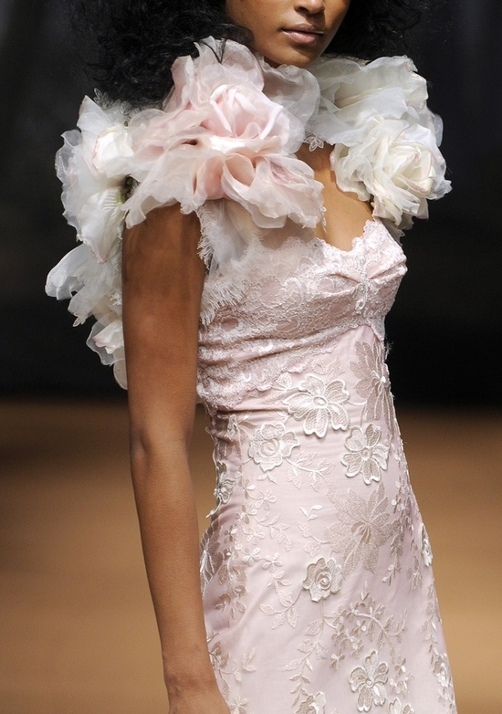2011 Blush Pink Wedding Dress By Claire Pettibone With
