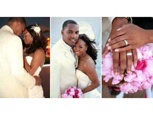 photo of Hot Pink and White California Wedding: Trina and Chad