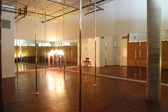 The warm and cozy Luscious Maven Pole Dance Studio!